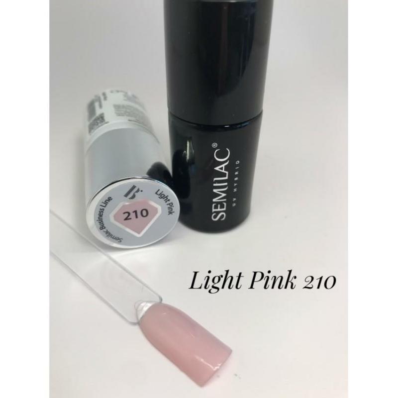 210 Semilac Uv Hybrid gél lakk Business Line Light Pink 7ml