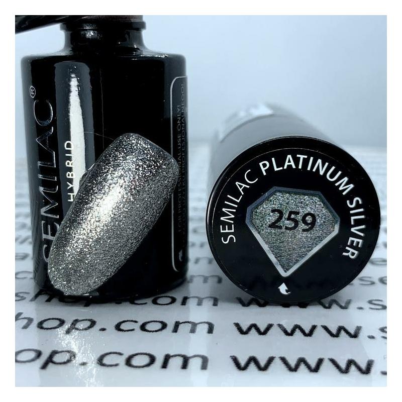 259 Semilac Uv Hybrid gél lakk Platinum Silver 7ml