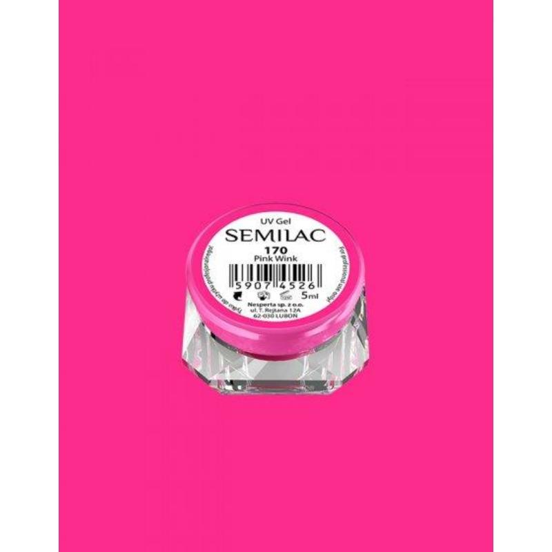 170 Színes Uv Zselé Semilac Pink Wink 5ml