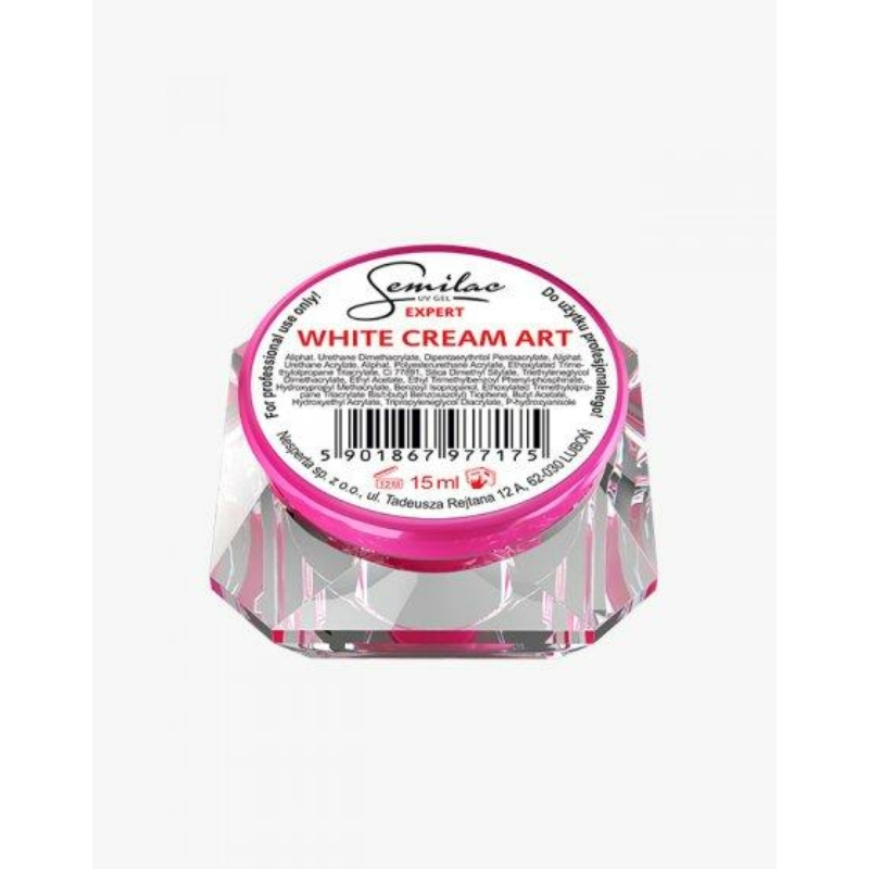 Semilac Díszítő Uv Zselé White Cream Art 15ml