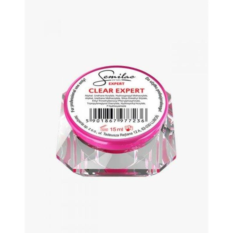 Semilac Uv Építő Zselé Clear Expert 15 ml