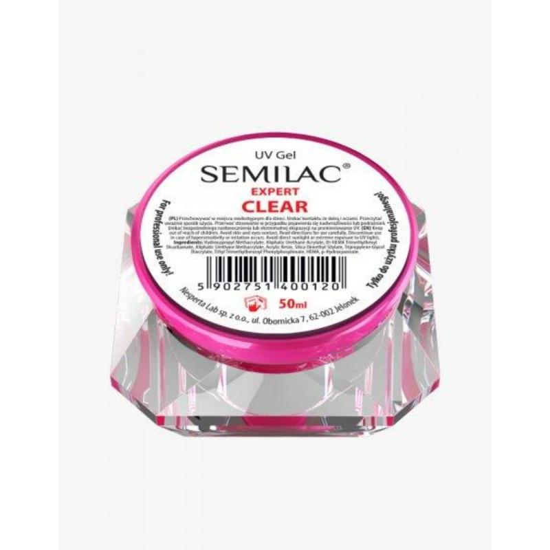 Semilac Uv Építő Zselé Clear Expert 50 ml