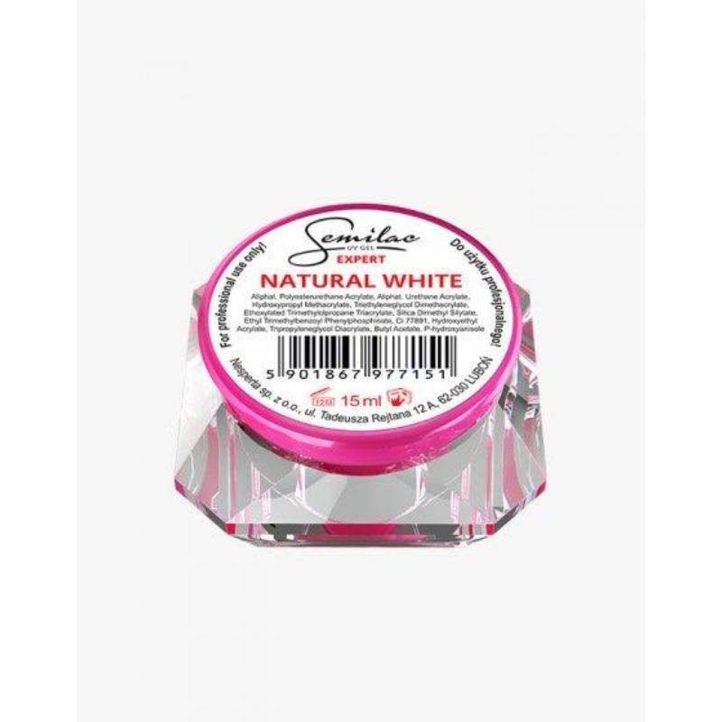 Semilac Uv Építő Zselé Expert Natural White 15 ml