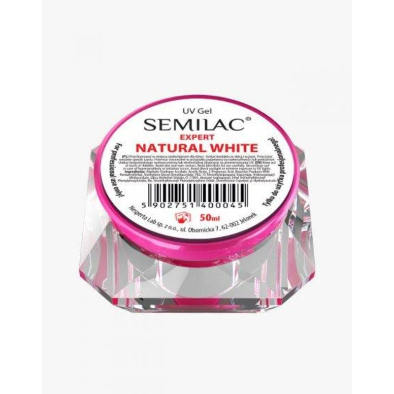 Semilac Uv Építő Zselé Expert Natural White 50 ml