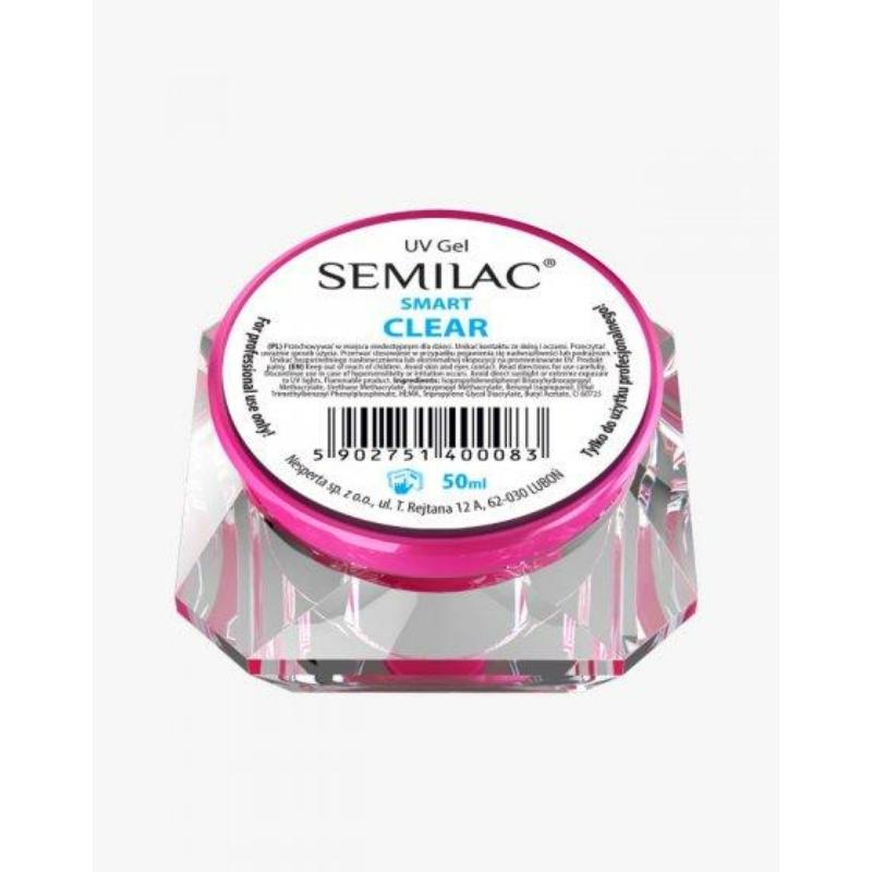 Semilac Uv Építő Zselé Smart Clear 50 ml