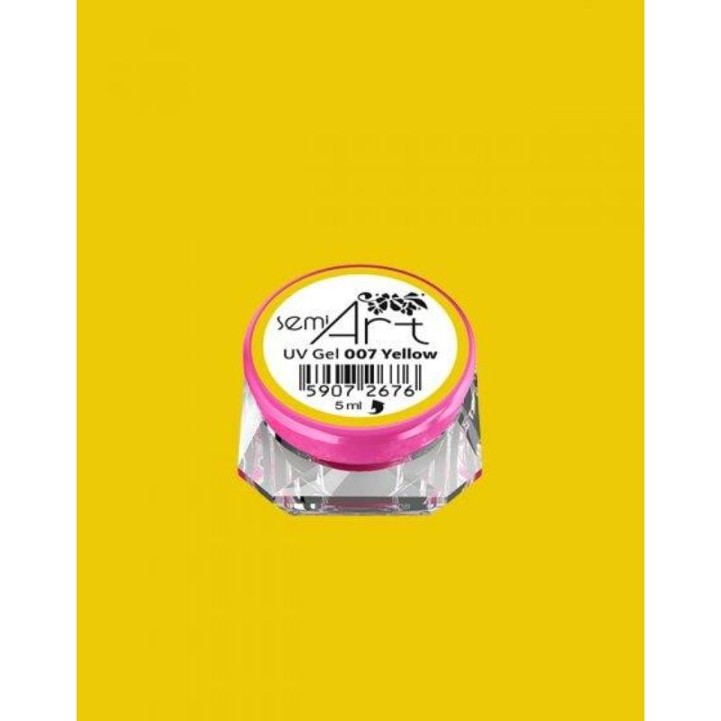 007 Semi Art Uv Díszítő Zselé Yellow 5ml
