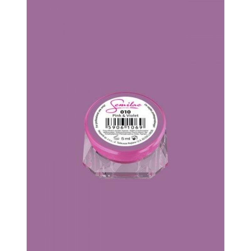 010 Színes Uv Zselé Pink & Violet 5ml