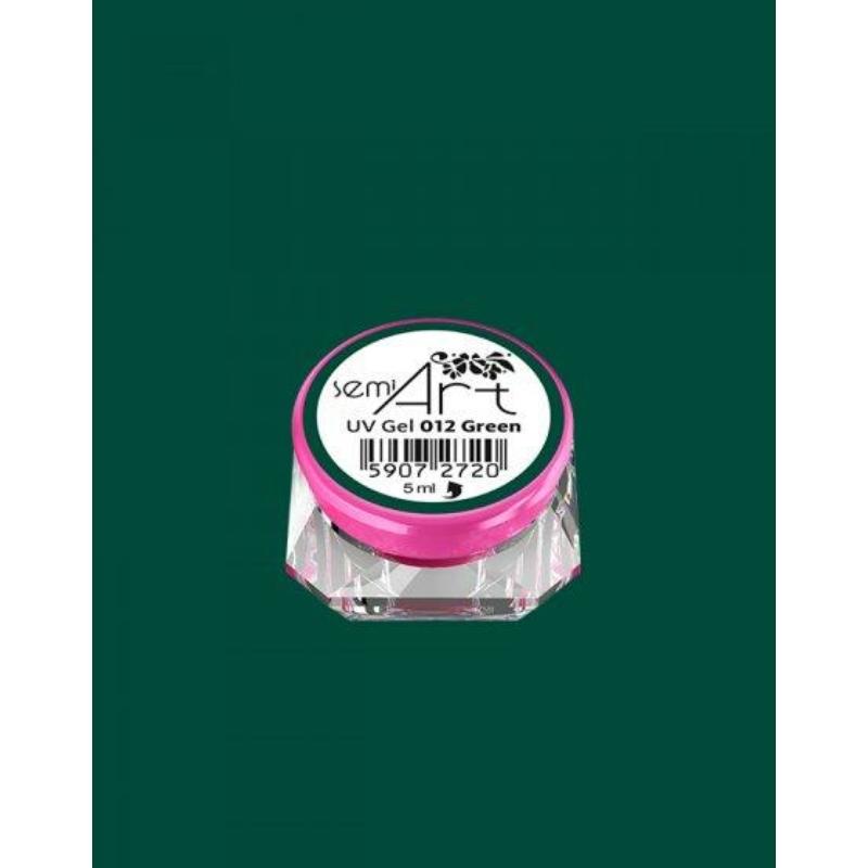 012 Semi Art Díszítő Zselé Green 5ml