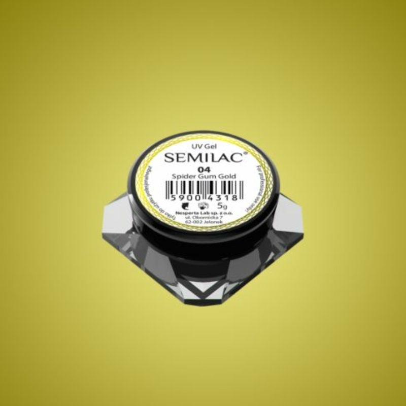 Semilac Spider gél - 04 Gold