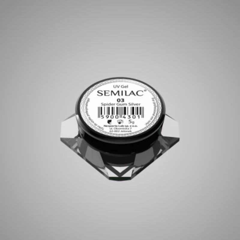 Semilac Spider gél - 03 Silver